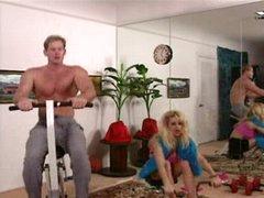 Cheerleader in the vaginal gym