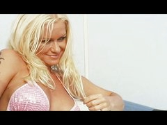Blond whore drilled on a boat