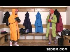 Femdom boxer legal age teenagers share slim dude's big hard dick