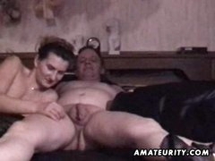 Older amateur pair homemade hardcore action