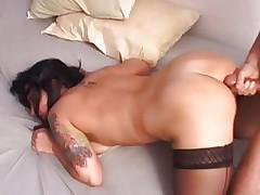 Hottie Katrina Kravin gets her a-hole splattered with cum