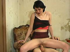 Salacious older angel chewing down on young dick craving for outrageous banging