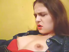 Watch now home-video of evil brunette hair with big bazookas and hard nipps getting plenty of incredible pleasure.