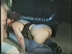 A fat lady gets all dressed up in her slutty lingerie and goes down on all fours. Awaiting to be fucked from the back, she's surprised to see the rod in her face. Luckily, she adapts quickly and sucks on it.