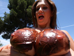 Sara Stone has the most outstanding set of huge freakish natural scoops that are just beautiful. This Babe can't live without to drink cum right off her huge scoops after a wonderful hard fucking. Those FREAKISH scoops receives u hard instantly during the time that they bounce up and down, and overspread with chocolate frosting...