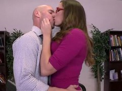It's Paige Turnah's final day on the job and this babe wishes to leave in style. So this babe and her paramour lad, Johnny Sins, give a decision to fuck on the boss' desk, drenching his work space with the rich, fragrant smell of her gushing geyser of a snatch! That is, if Milton doesn't make good on his threat to burn this fucking place to the ground.