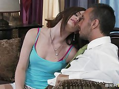 Lily Carter is extremly beautifull and lustful .  Just look how that hottie is sucking his big knob and whilst sucking that hottie appears to be like that hottie would need a big hard knob inside her tight pussy. Do you think that hottie going to get that and maybe some spunk on her moist lips?