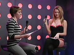 2 sexy angels speak live about sex in a jewish manner. They are broke and trying to buy something, but don`t have enough money. These jokes about sex are indeed turning 'em on. Besides looking for Mr. Right, the blonde wants to go down on her girlfriend for some money. This babe takes her brassiere off, it`s so hot.