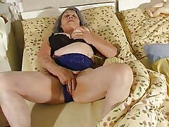Although our granny is so old that she barely moves the fucking slut still needs to fuck. Cornel rubs her saggy vagina and then receives some help from her girl. She kisses those old wrinkled boobs and helps her undress so they can have some lesbian action. The whores crave to acquire dirty so why not watch them and have a fun