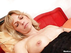 Joanna loves her sex-toy and shows us what she can do with it. That babe spreads her hot legs and then rubs and fingers her cunt previous to inserting that sex toy in her fur pie from behind making us horny. That babe is all alone, masturbating with lust and we hope to watch her getting fucked from behind by a real cock.