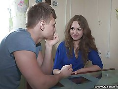 Really hot legal age teenager with consummate melons acquires sweet talked to fuck with this lucky guy. This babe takes off her clothes and brassiere and we can see her nice-looking tits. This babe is ready now to fuck her pink legal age teenager muff