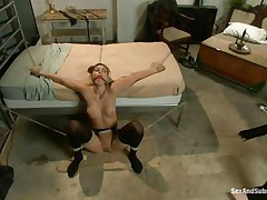 Rilyn Rae is a hot brown haired milf with worthwhile milk sacks and constricted pussy. The milf is tied on a ottoman and has a gag in her mouth. That babe moans with pleasure During the time that Danny strikes her big milk sacks with his leather whip. This guy acquires on top of her, removing her gag, and copulates her face roughly making sure this babe acquires all the dong this babe needs.