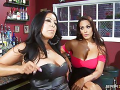Kiara Mia and Nina Mercedez are 2 sexy MILFs these love to play lesbian often. In a bar, these 2 were alone and their homosexuality jumps out of their cages for a dominating hardcore lesbian love. One of them got rough with one more one and made her to strip, suck boobs & nipples, receive ass slapped and pussy licked.