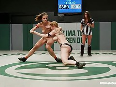 Exposed sluts are wrestling hard cuz every of them would like to dominate the other one. This is a true team battle contest and having your cookie treated by two beauties feels so good. They have to choose, whether to stay there, cum and loose the fight or receive up and begin dominating some cookie on their own!