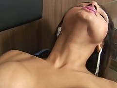 Timid TS doxy becomes a thrall of a huge mighty manhood