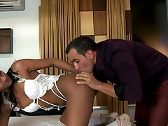 Experienced ladyboy can't live without engulfing dicks very much