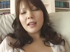 Japanese angel with huge whoppers fingered, drilled and creampied - uncensored