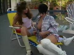 Hot Jeanna Priceless is with her lesbian paramour having poolside sex