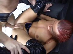 Fetish group sex with pierced pecker engulf and fuck