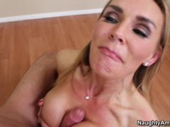 Blistering Tanya Tate acquires splattered in dong milk